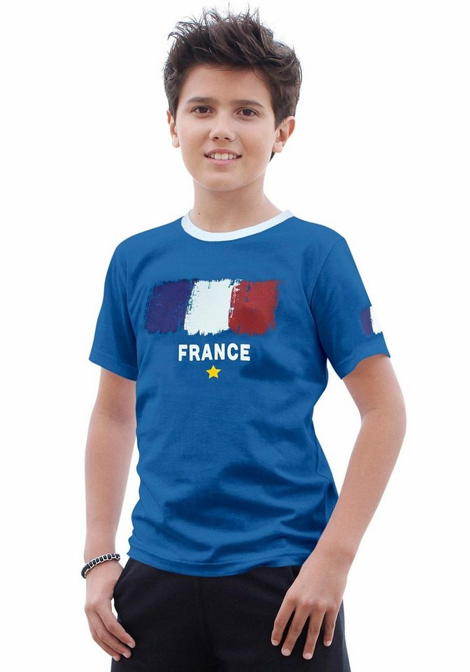 "KIDSWORLD T-Shirt Fanshirt ""France"" in royalblau"
