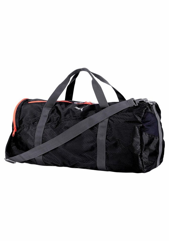 PUMA FIT AT LARGE SPORTS BAG Sporttasche in schwarz-orange