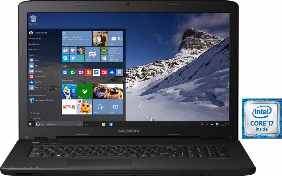 Medion® Erazer P7643 Notebook, Intel® Core™ i7, 43,9 cm (17,3 Zoll), 2512 GB Speicher in schwarz