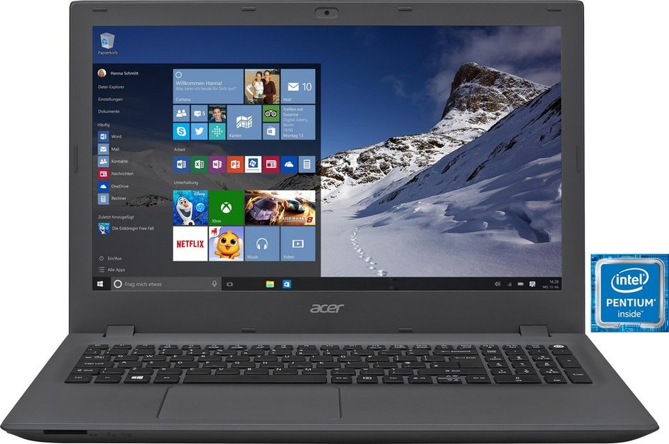 Acer Aspire E5-573G-P6FN Notebook, Intel® Pentium™, 39,6 cm (15,6 Zoll), 1000 GB Speicher in schwarz/grau
