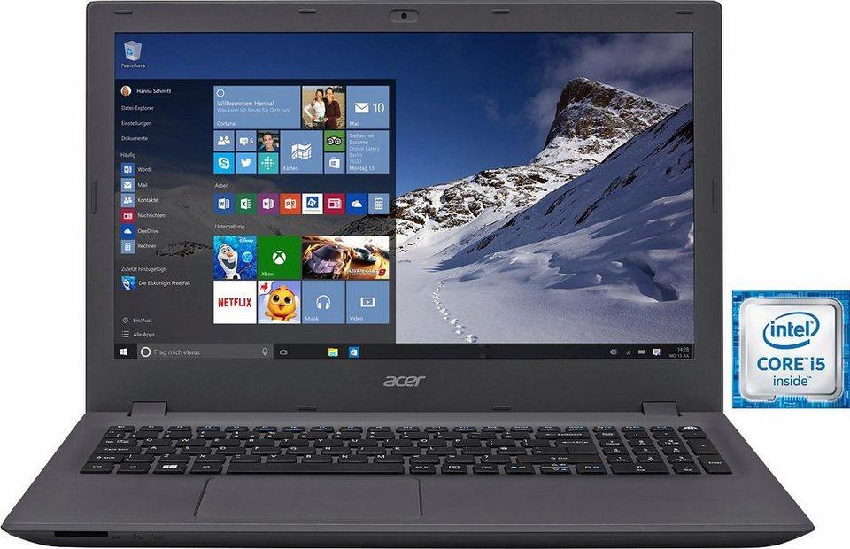 Acer Aspire E15 E5-574-51AG Notebook, Intel® Core™ i5, 39,6 cm (15,6 Zoll), 256 GB Speicher in grau/schwarz