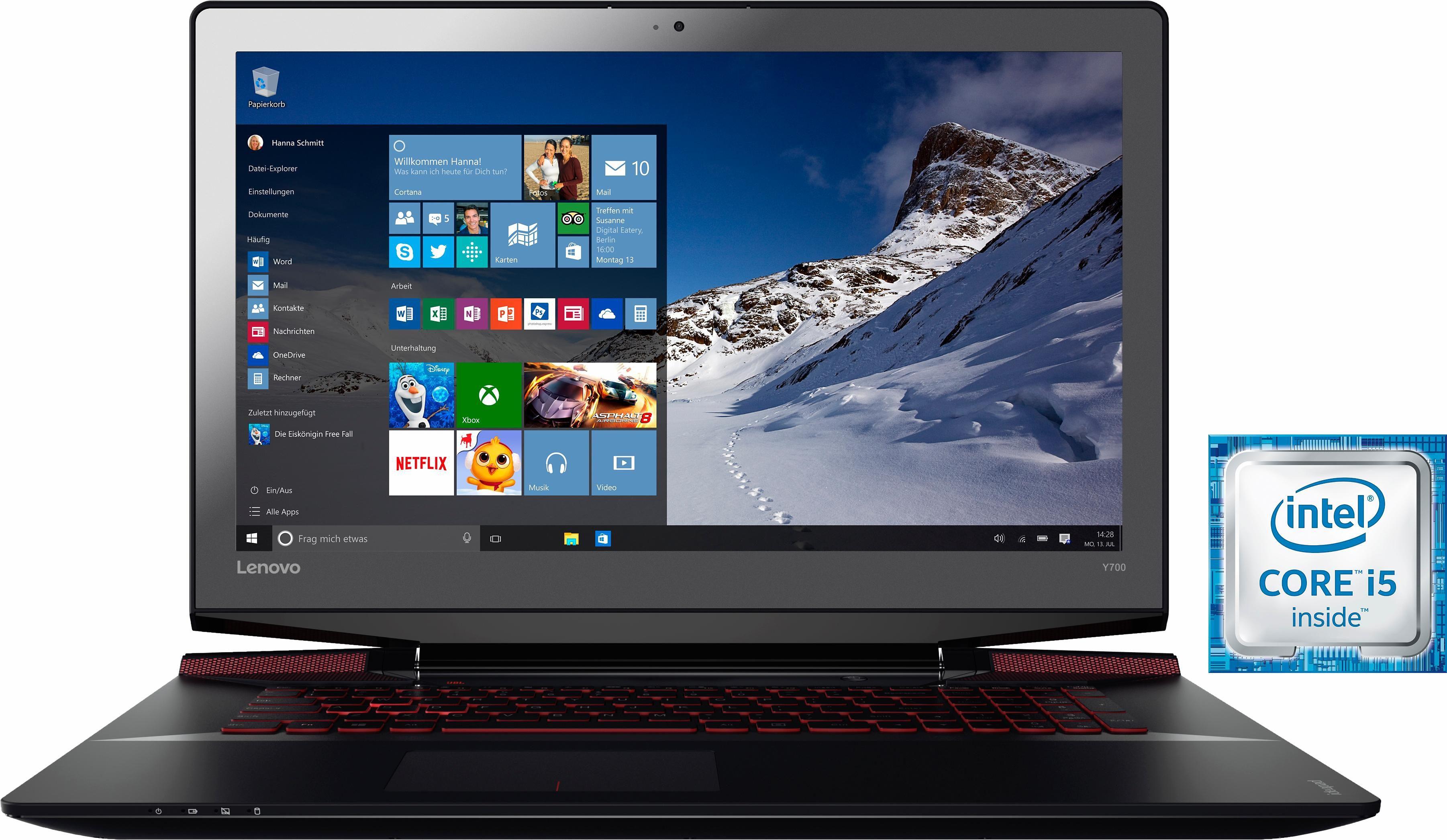 Lenovo IdeaPad Y700-17ISK Notebook, Intel® Core™ i5, 43,9 cm (17,3 Zoll), 1128 GB Speicher