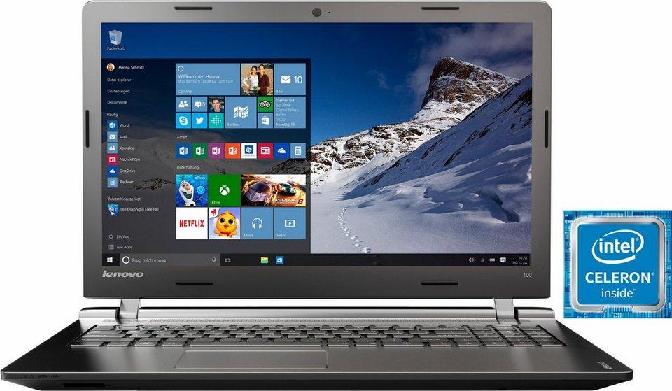 Lenovo IdeaPad 100-15IBY Notebook, Intel® Celeron™, 39,6 cm (15,6 Zoll), 500 GB Speicher in schwarz
