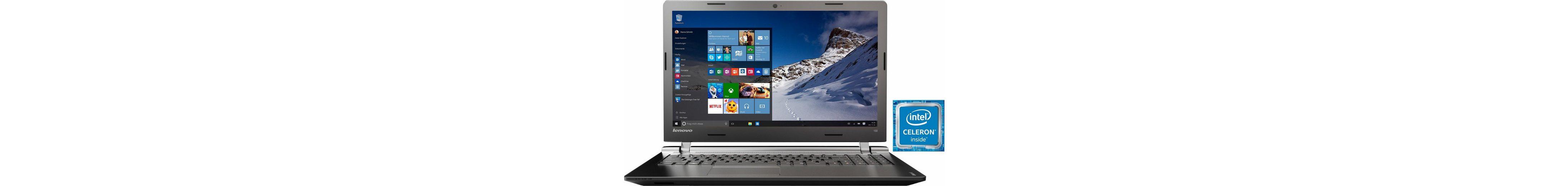Lenovo IdeaPad 100-15IBY Notebook, Intel® Celeron™, 39,6 cm (15,6 Zoll), 500 GB Speicher
