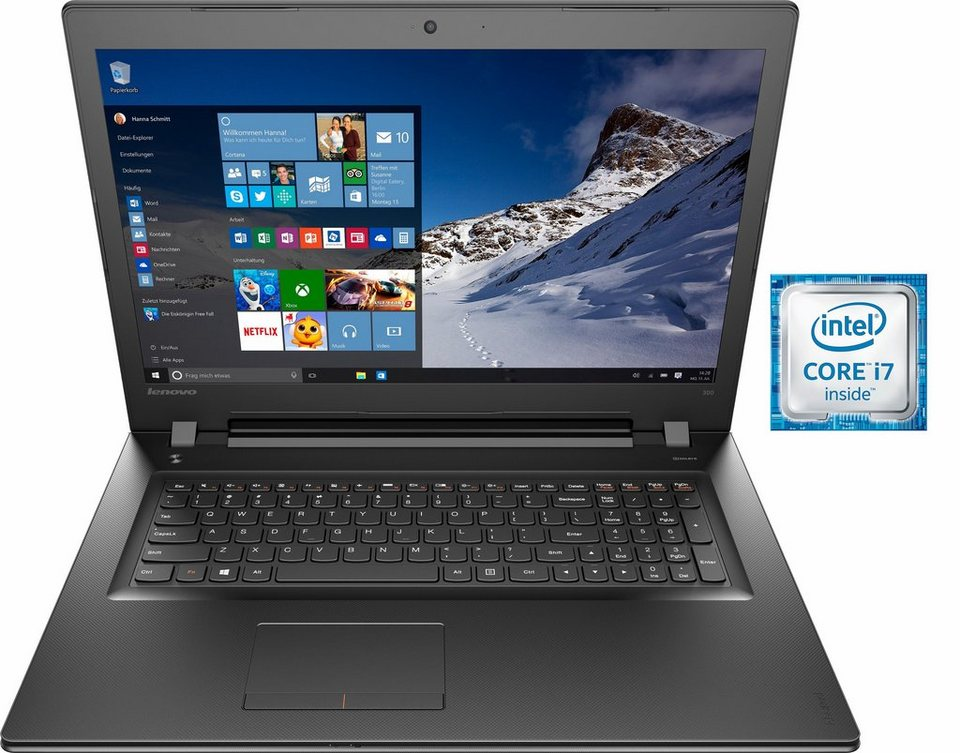 Lenovo IdeaPad 300-17ISK Notebook, Intel® Core™ i7, 43,9 cm (17,3 Zoll), 1000 GB Speicher in schwarz