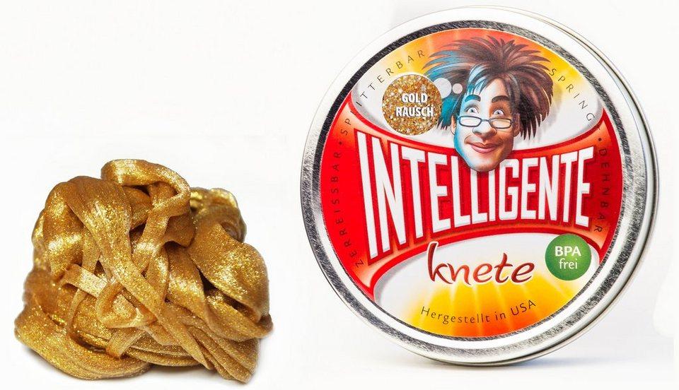 Intelligente Knete Knetgummi, »Glitzer« in Goldrausch