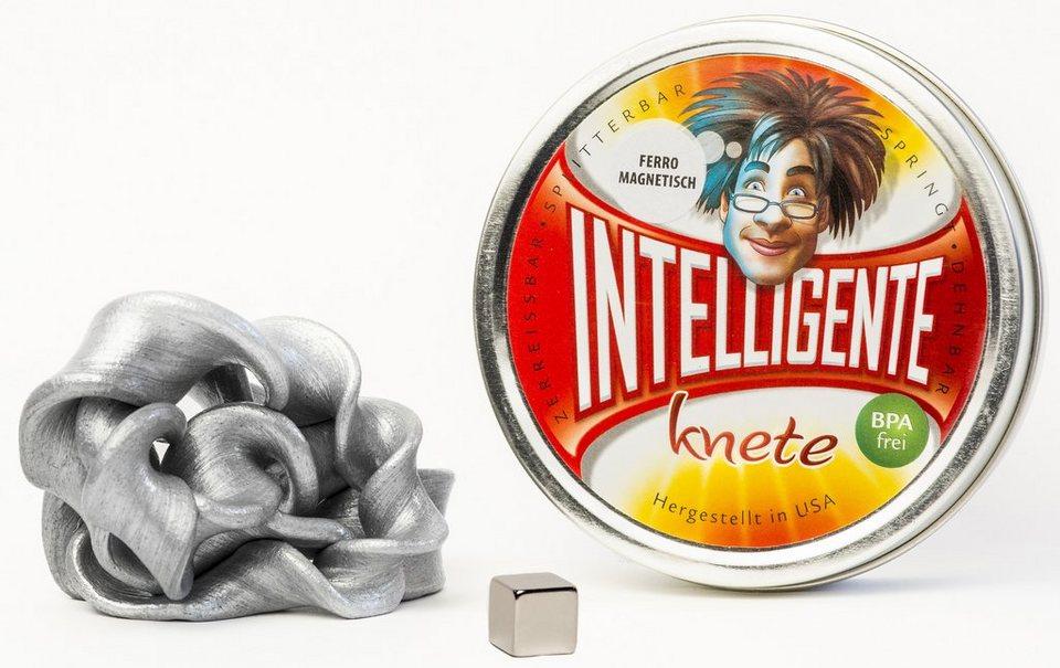 Intelligente Knete Knetgummi, »Ferromagnetisch« in silber