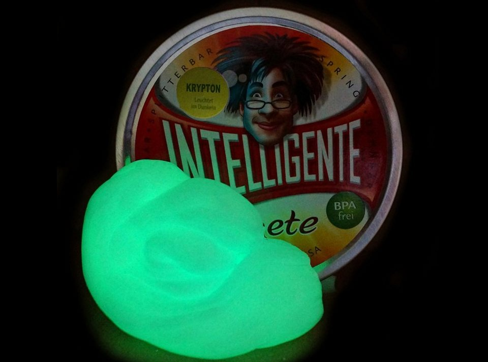Intelligente Knete Knetgummi, »Leuchtend« in Krypton