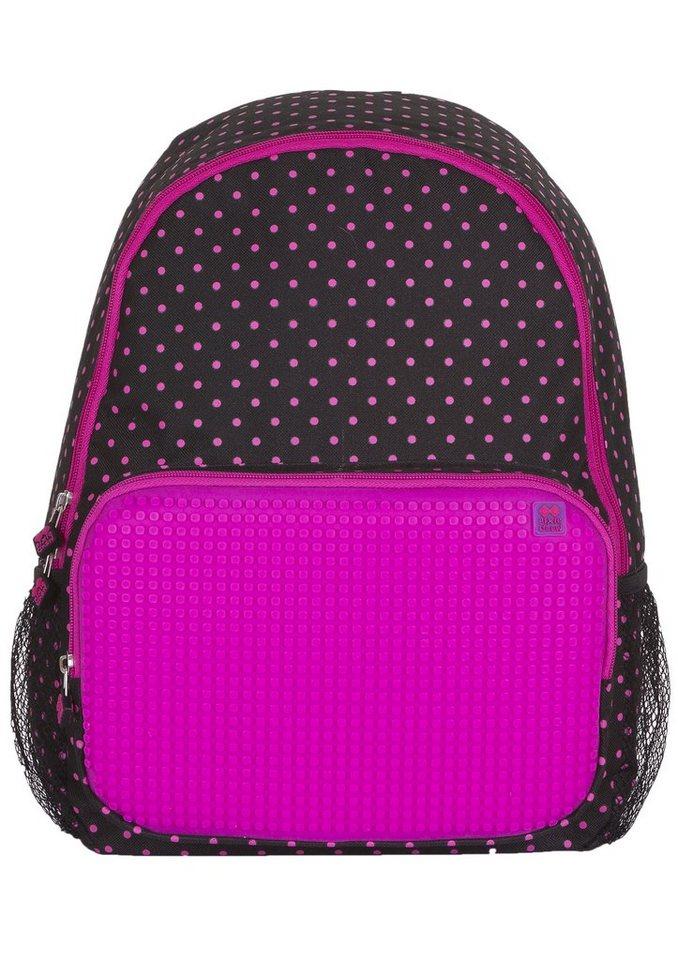 Pixie Crew Schulrucksack inklusive 200 Pixies in schwarz/pink