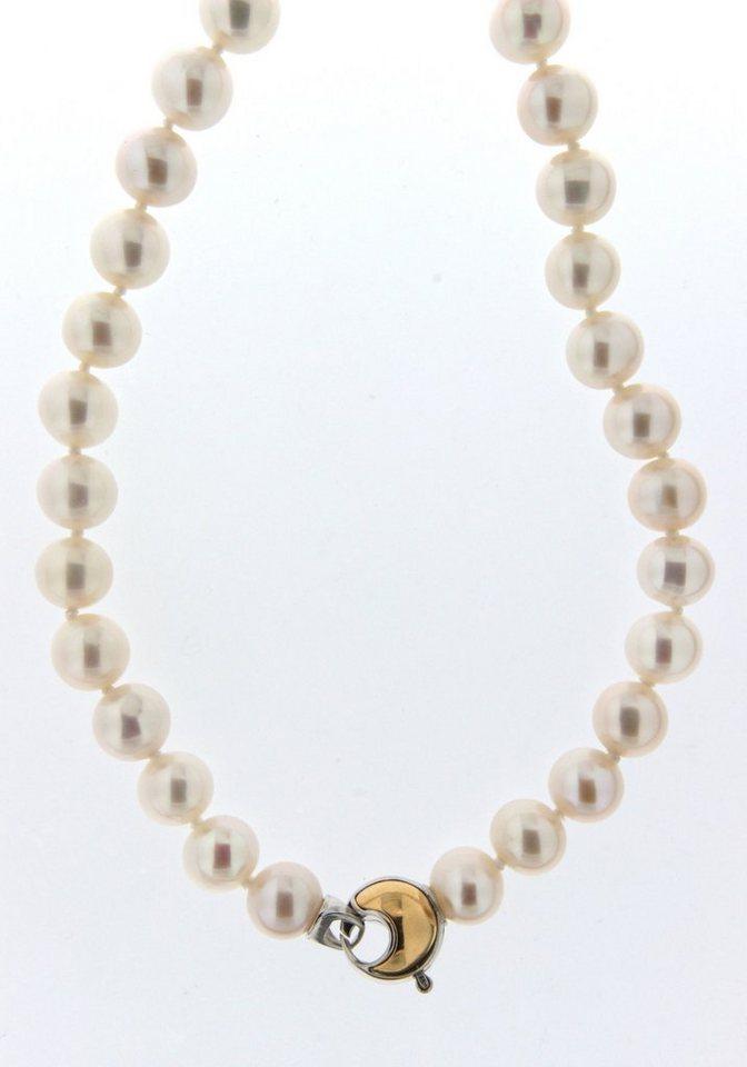 Adriana Perlenkette, »La mia perla A2839-KSW70-SIV/Ba« in weiß/roségold- und goldfarben
