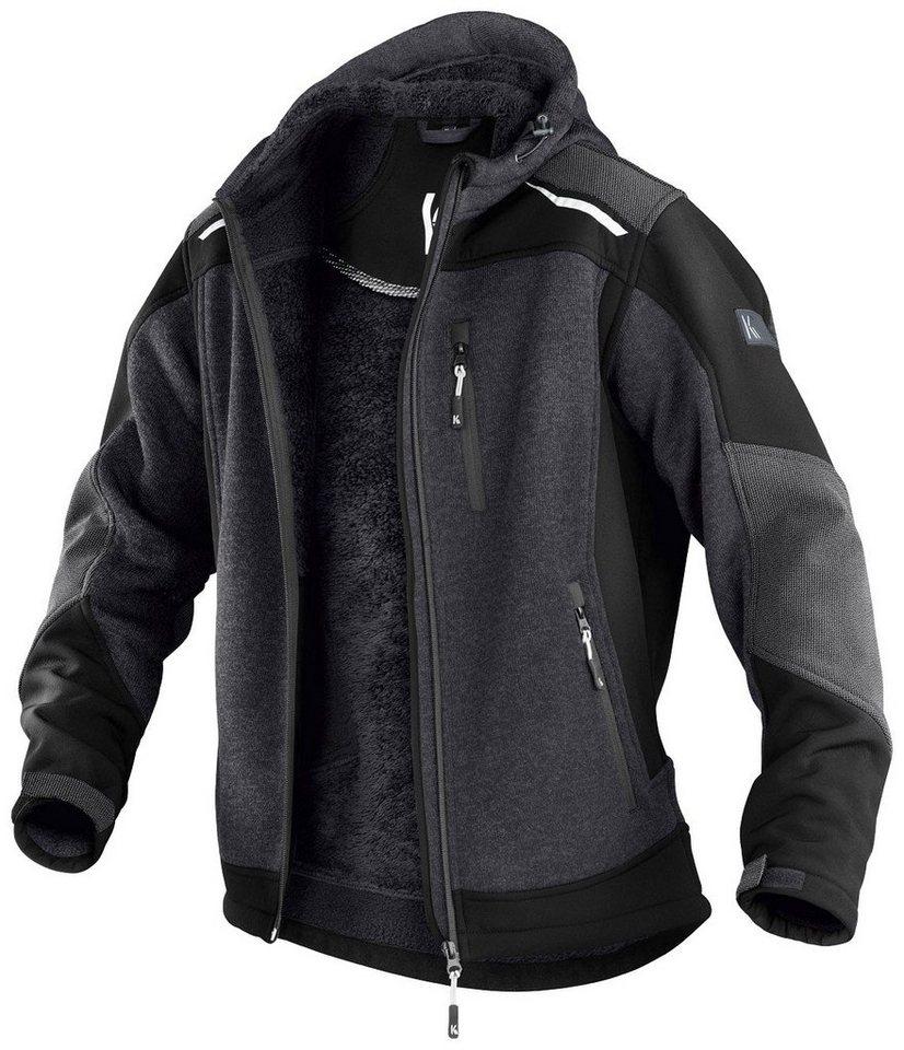 Kübler Jacke in dunkelgrau/schwarz