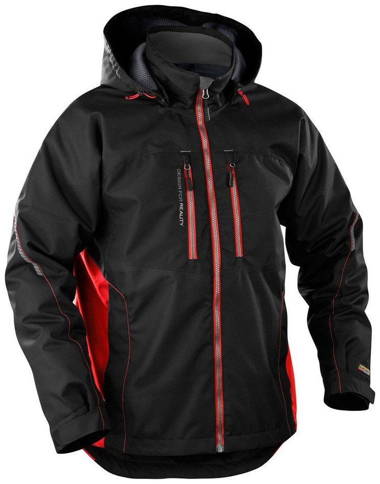 Arbeitsjacke »4890« in schwarz-rot