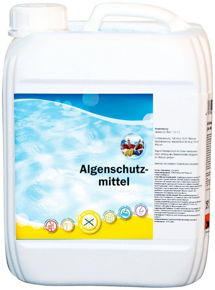 Wasserpflege »Algenschutzmittel 5 L Kanister, schaumarm« in weiß