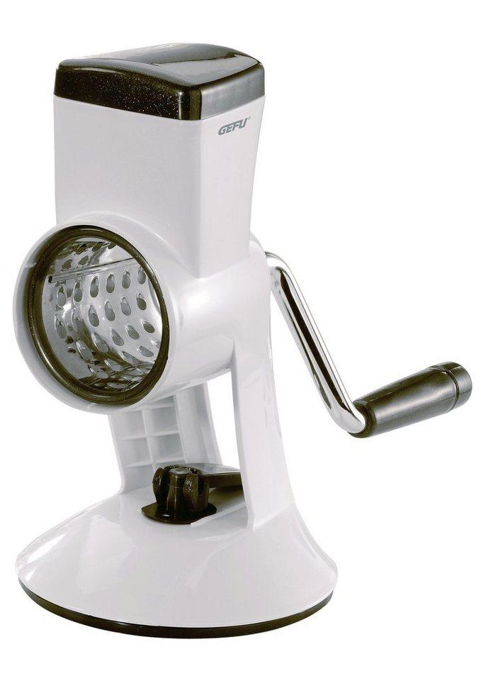 GEFU Reibemaschine mit 4 Schneidtrommeln in weiß/schwarz