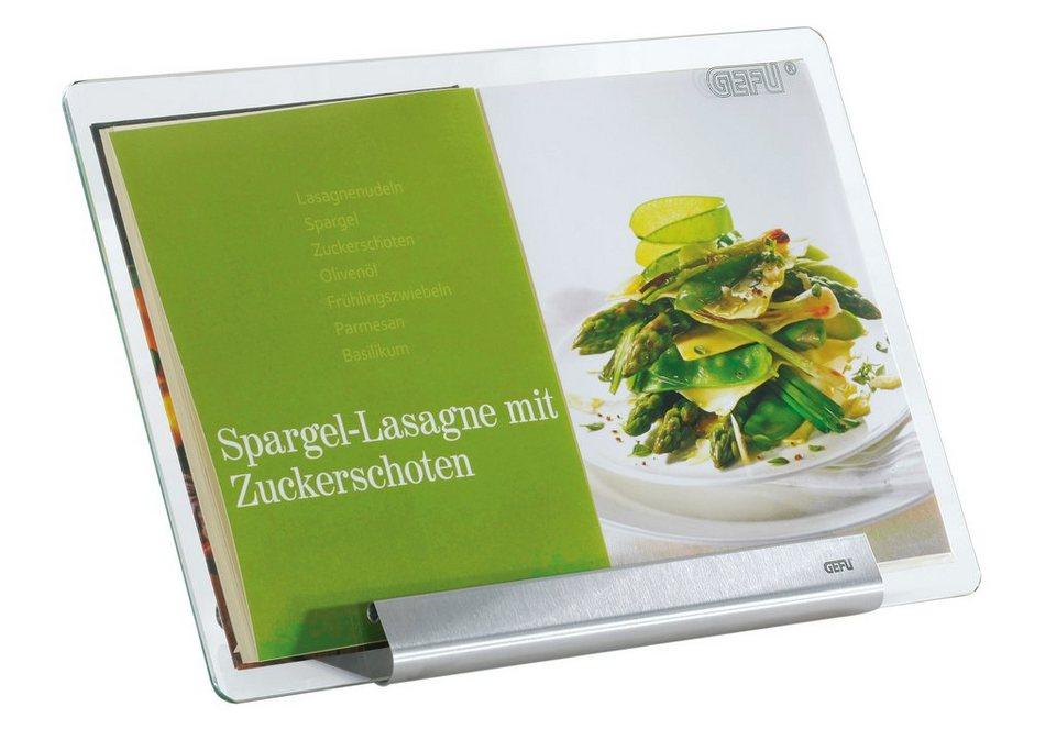 GEFU Kochbuchständer, »LIBRO« in transparent/hochwertiger Edelstahl
