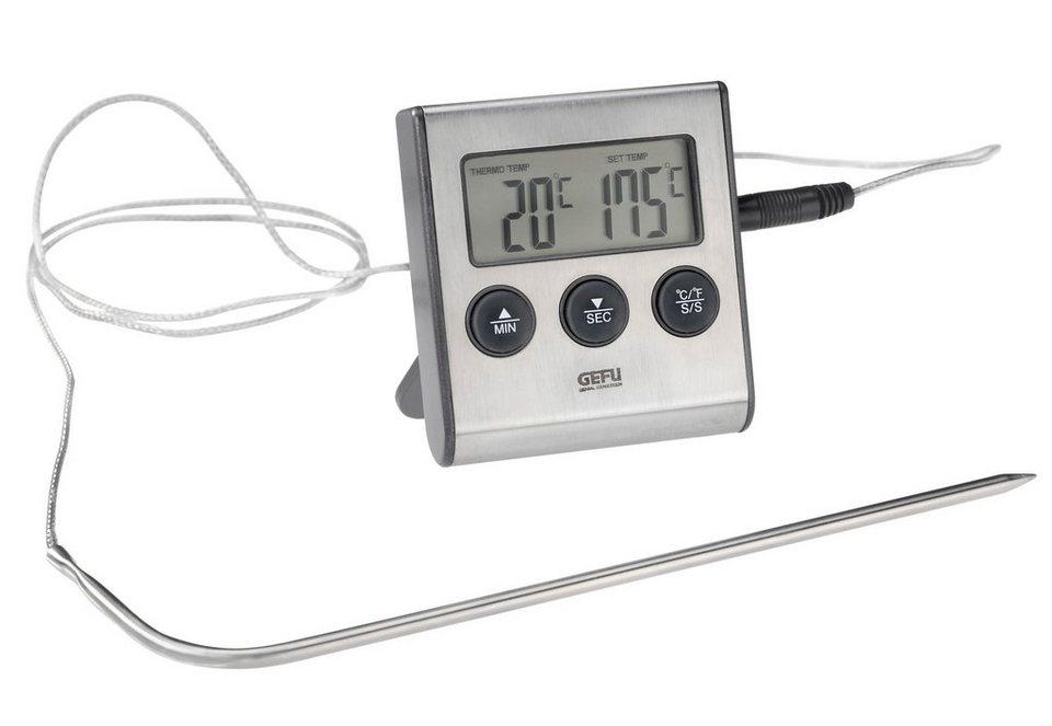 GEFU Digitales Bratenthermometer , »TEMPERE« in silberfarben/schwarz