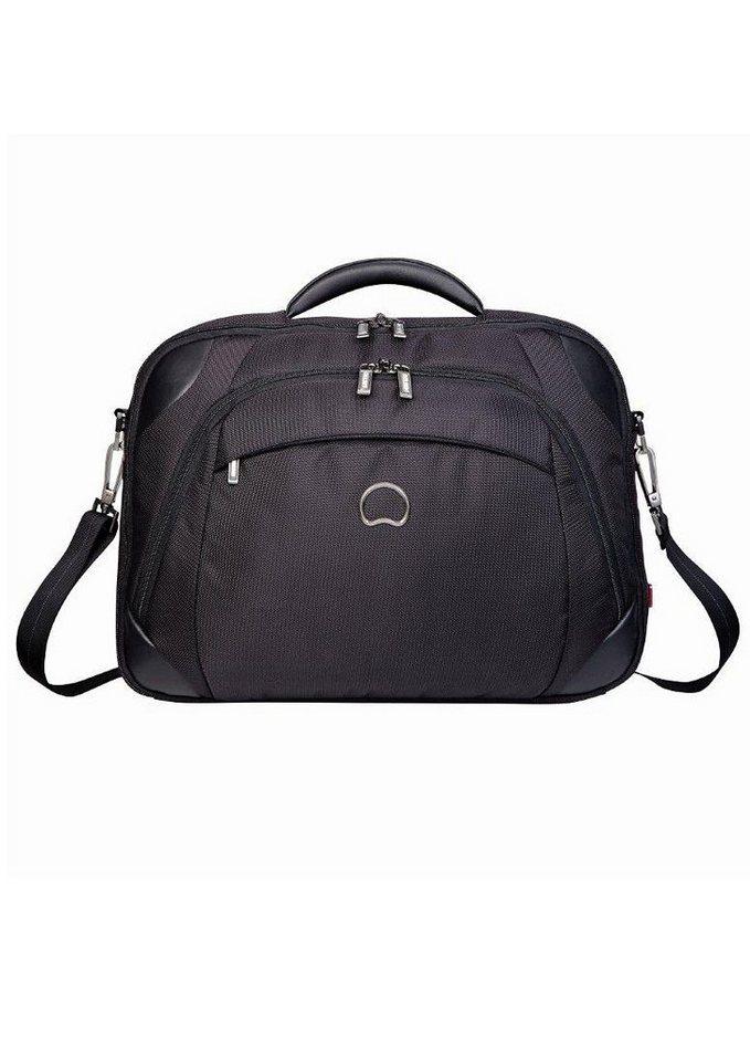 DELSEY Businesstasche mit 14-Zoll Laptopfach und TSA Schloss, »Quarterback+« in schwarz