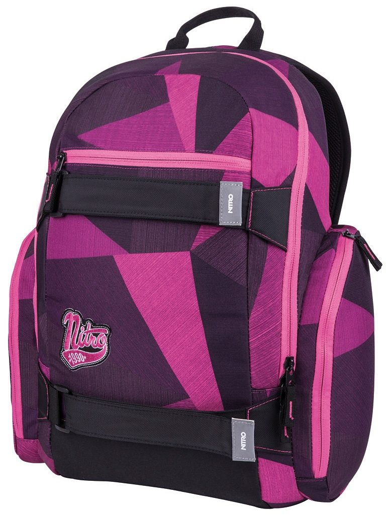 Nitro Schulrucksack, »Local -fragments purple«
