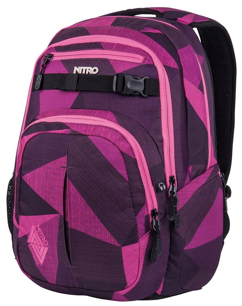 Nitro Schulrucksack, »Chase - Fragments purple«