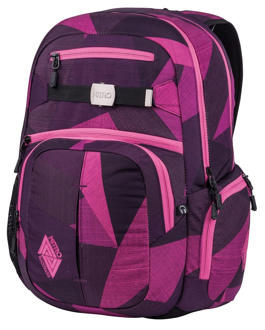 Nitro Schulrucksack, »Hero - fragments purple«