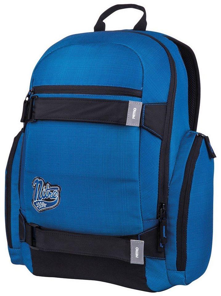 Nitro Schulrucksack, »Local - blur brilliant blue« in blur brilliant blue