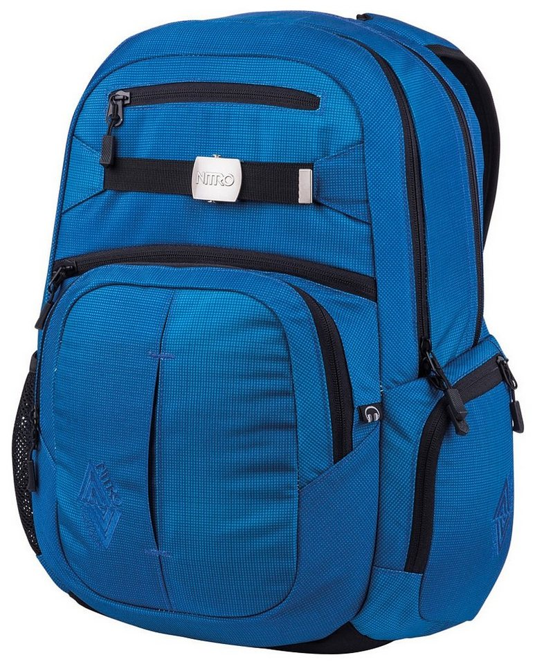 Nitro Schulrucksack, »Hero - blur brilliant blue« in blur brilliant blue
