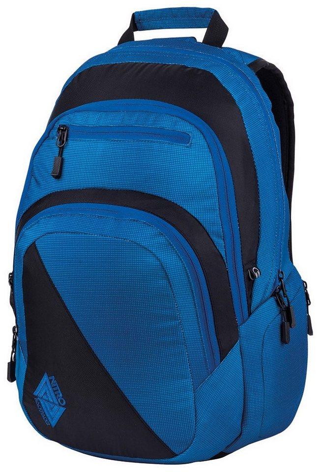 Nitro Schulrucksack, »Stash - Blur brilliant blue« in blur brilliant blue