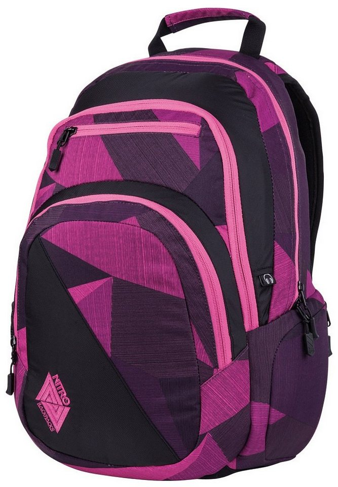 Nitro Schulrucksack, »Stash - Fragment purple« in fragments purple