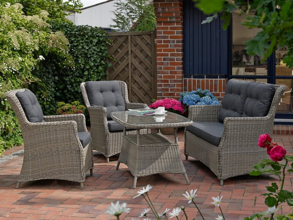 destiny gartenm belset casa 11 tlg 2 sessel 2er sofa tisch 120x75 cm polyrattan online. Black Bedroom Furniture Sets. Home Design Ideas