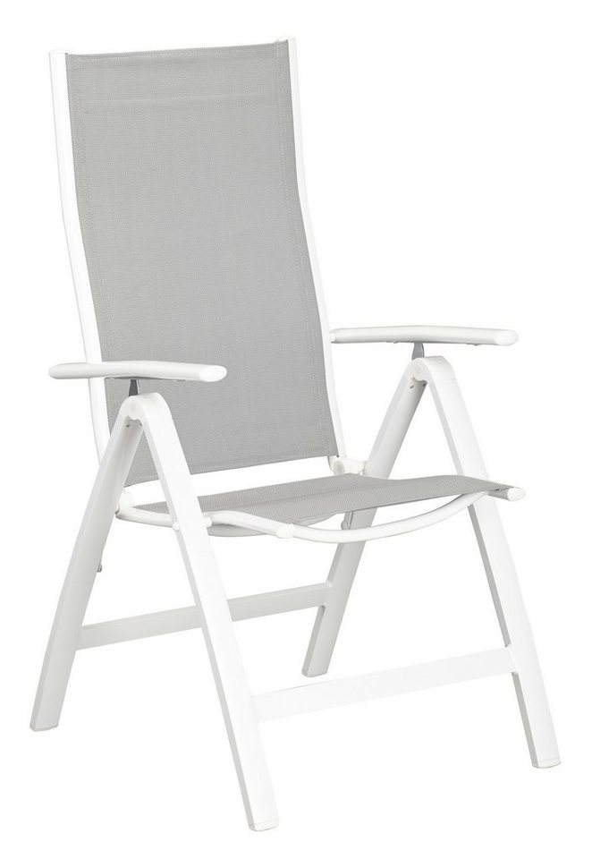 Uberlegen Merxx Gartenstuhl »Carrara«, (2er Set), Alu/Textil, Verstellbar