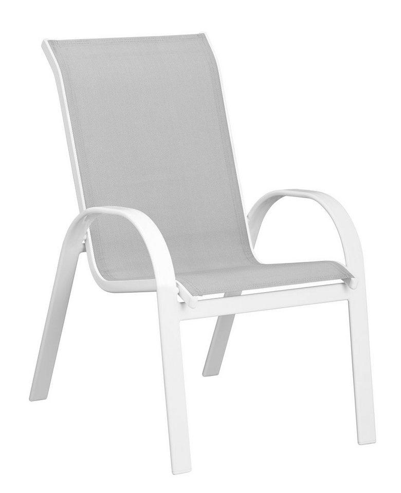 Stapelstuhl »Carrara«, 2er Set in weiß