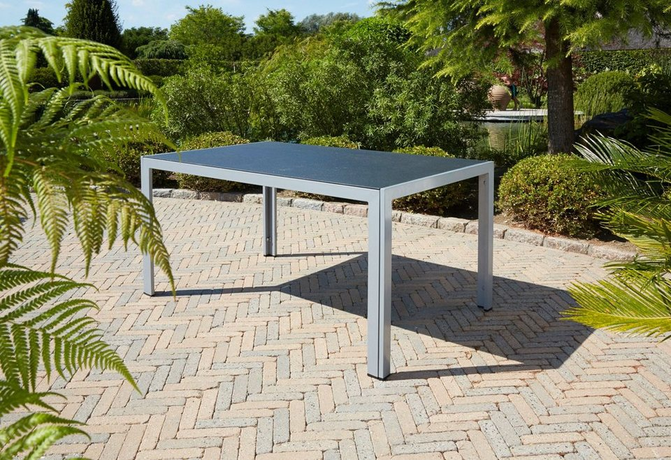 Tisch »Monza« in silber/schwarz