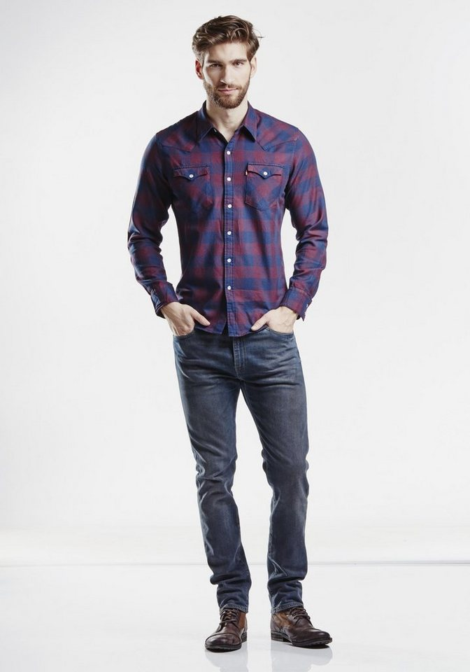 Levi's® Hemd »L/S Barstow Western Shirt« in Port