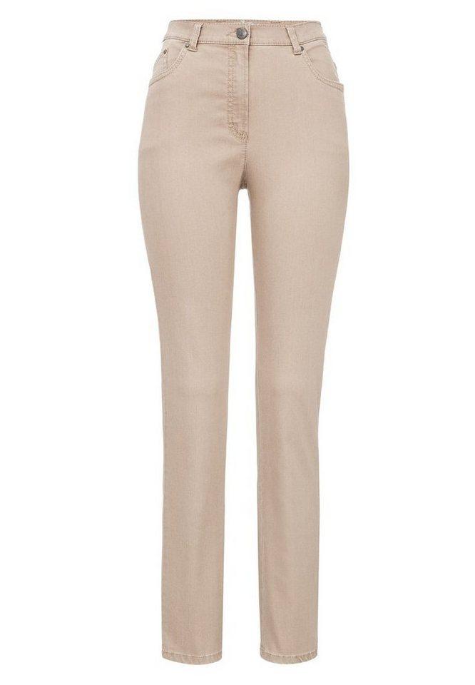 RAPHAELA by BRAX Damenhose Five-Pocket-Jeans »INA OCEAN« in BEIGE