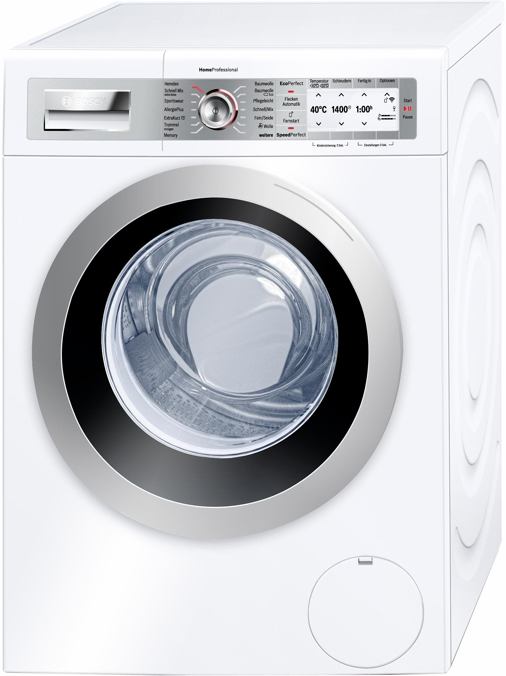 BOSCH Waschmaschine HomeProfessional WAYH87W0, A+++, 8 kg, 1400 U/Min