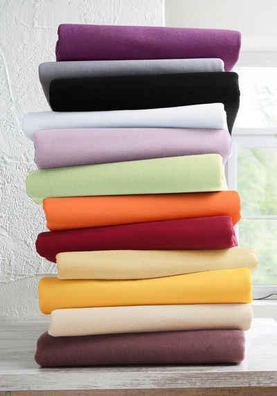 Spannbettlaken »Jersey«, my home, aus reiner Baumwolle