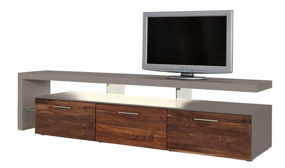 Lowboard nussbaum  NETFURN BY GWINNER Lowboard mit TV-Brücke »SOLANO«, Lack fango ...