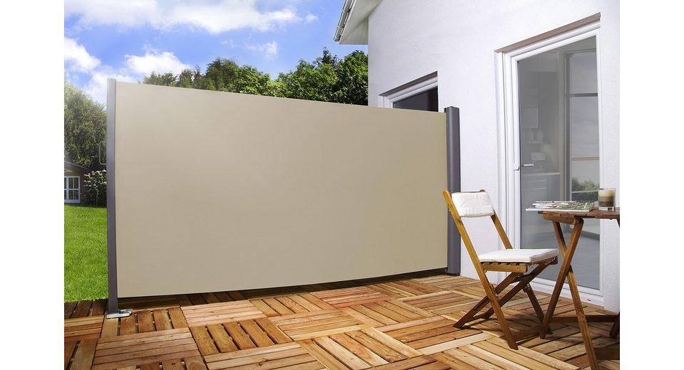 Sichtschutz/Seitenmarkise in 2 Höhen (180 und 200cm), Breite 300 cm in cremefarben