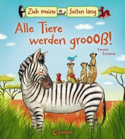 Buch mit Papp-Einband »Zieh meine Seiten lang - Alle Tiere werden groß!«