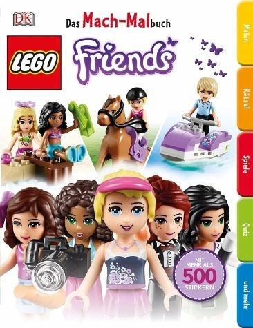 Broschiertes Buch »Das Mach-Malbuch LEGO® FRIENDS«