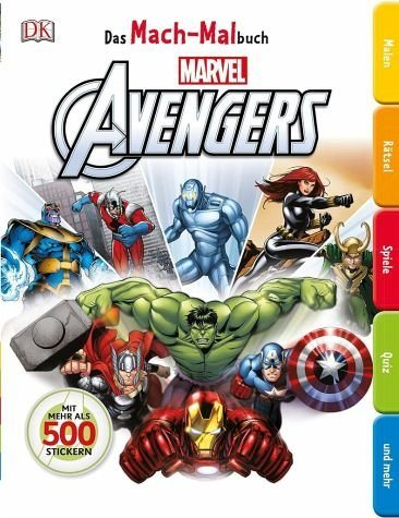 Broschiertes Buch »Das Mach-Malbuch Marvel Avengers«