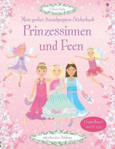 Broschiertes Buch »Mein großes Anziehpuppen-Stickerbuch:...«