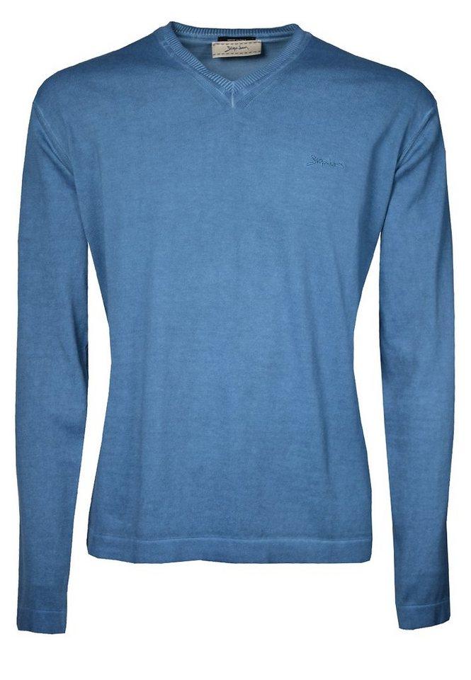 Signum Leichter Pullover mit V-Ausschnitt in deep water