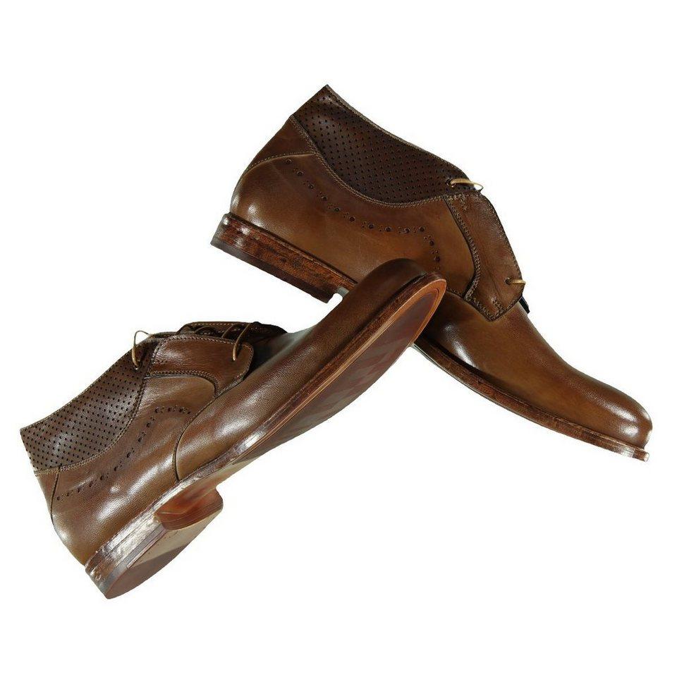 emilio adani Derby Boots in Antik-Optik in Nussbraun