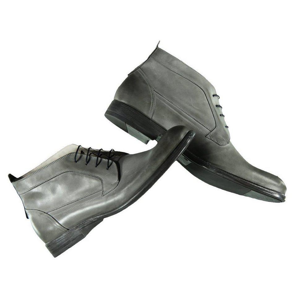 emilio adani Boots aus softem Leder in Stahlgrau
