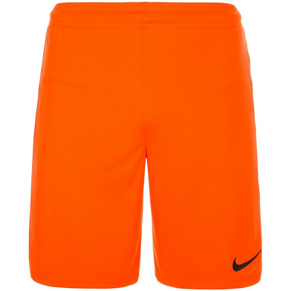 NIKE Park II Short Herren in orange / schwarz