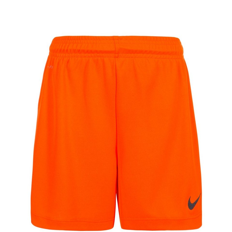 NIKE Park II Short Kinder in orange / schwarz