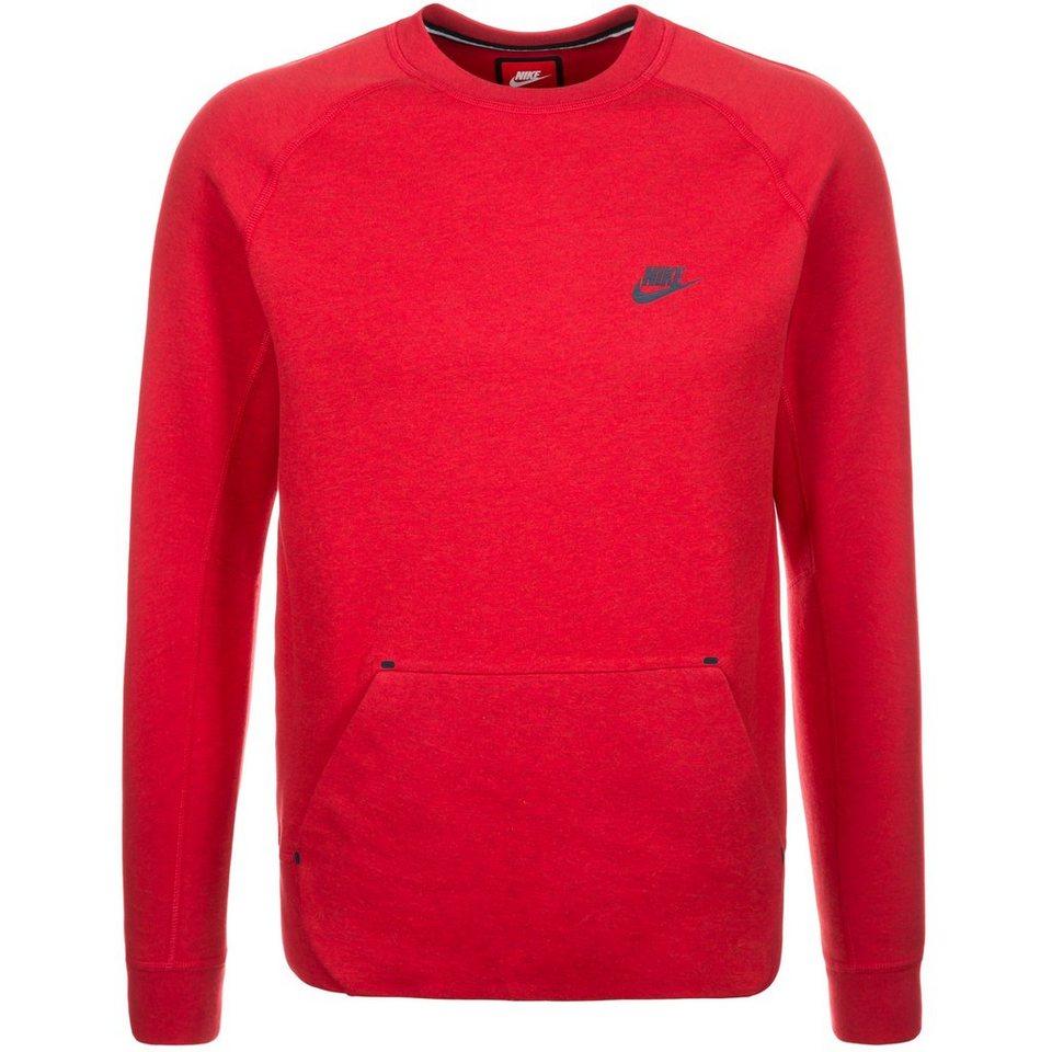 Nike Sportswear Tech Fleece Crew Sweatshirt Herren in rot / dunkelblau
