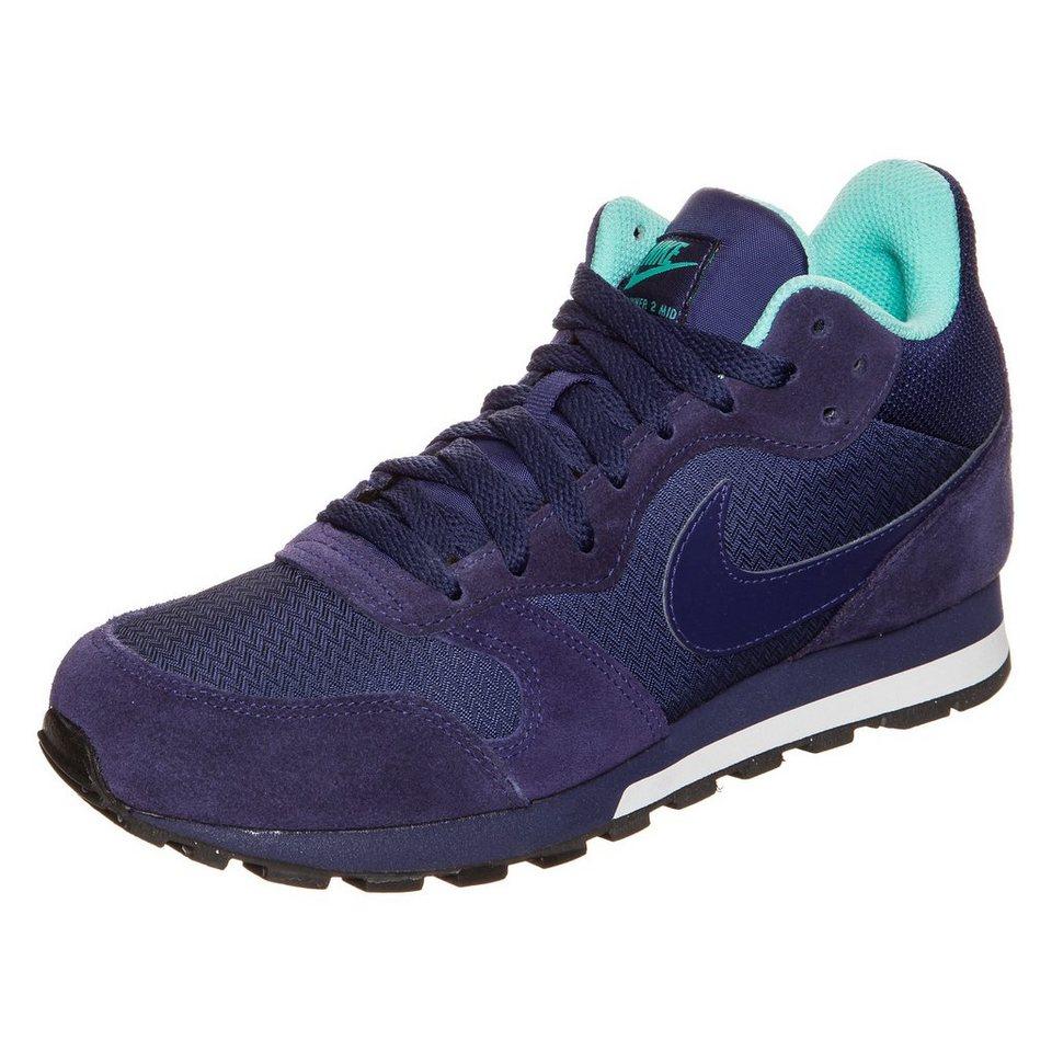 Nike Sportswear MD Runner 2 Mid Sneaker Damen in blau / türkis