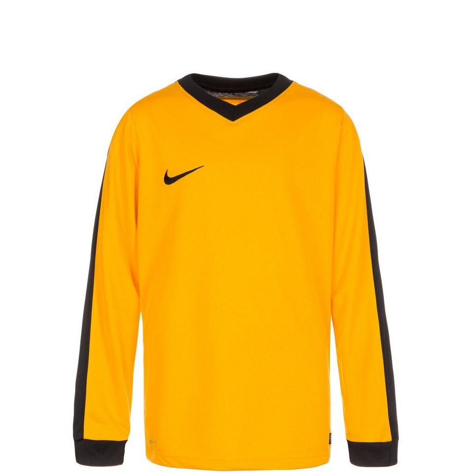 NIKE Striker IV Fußballtrikot Kinder in gold / schwarz